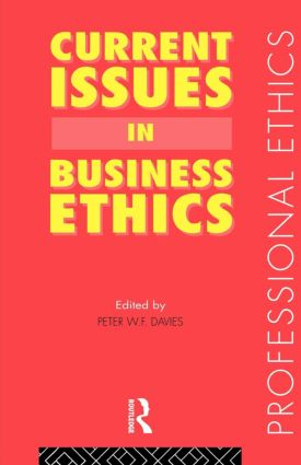 Current Issues in Business Ethics book cover