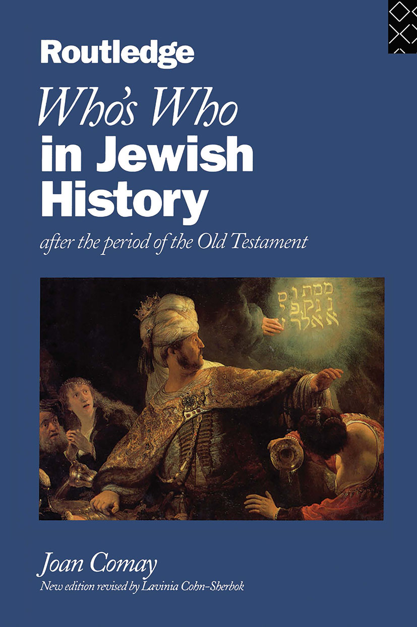 Who's Who in Jewish History: After the period of the Old Testament (Hardback) book cover