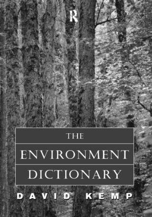 The Environment Dictionary: 1st Edition (Paperback) book cover