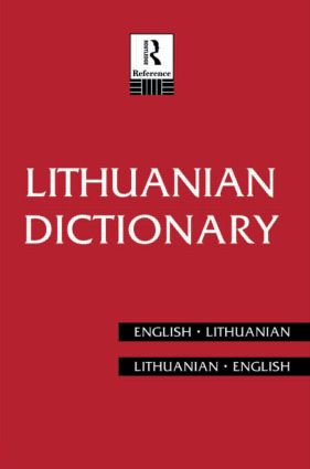 Lithuanian Dictionary: Lithuanian-English, English-Lithuanian book cover