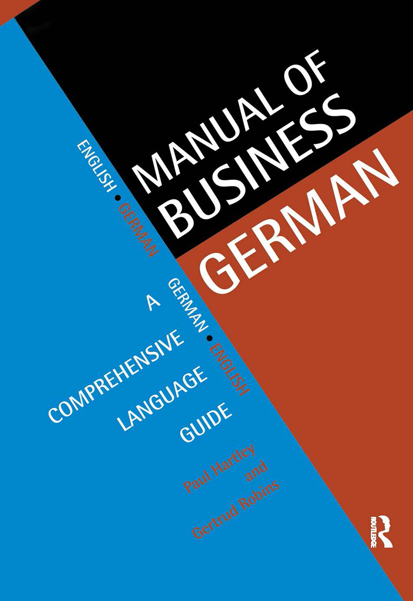 Manual of Business German: A Comprehensive Language Guide (Paperback) book cover