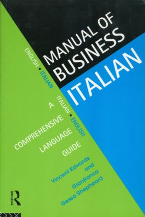 Manual of Business Italian: A Comprehensive Language Guide (Paperback) book cover