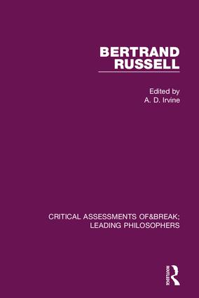 Bertrand Russell: Critical Assessments book cover