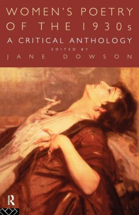 Women's Poetry of the 1930s: A Critical Anthology: 1st Edition (Paperback) book cover