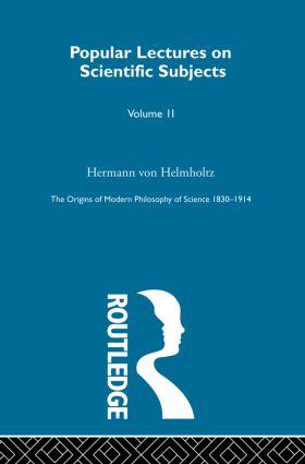 The Origins of Modern Philosophy of Science 1830-1914