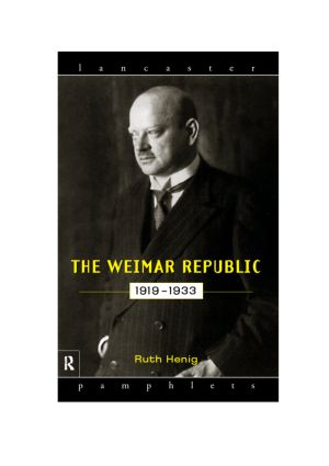The Weimar Republic 1919-1933 book cover