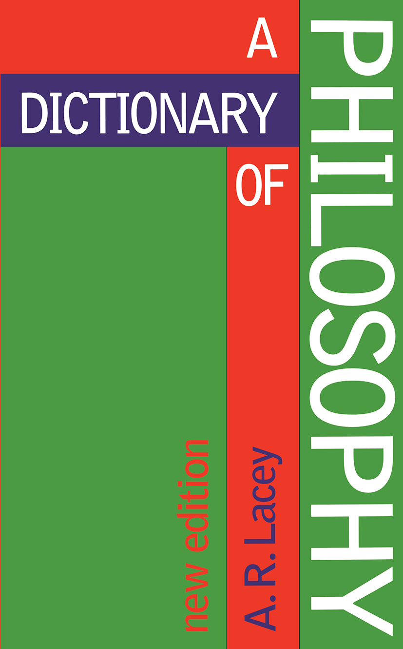 Dictionary of Philosophy book cover