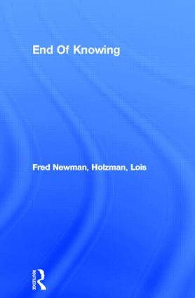 End Of Knowing (Paperback) book cover