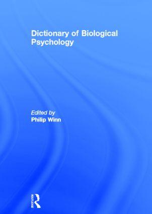 Dictionary of Biological Psychology (Hardback) book cover