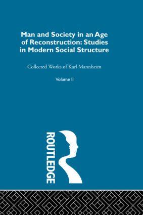 Man & Soc Age Reconstructn V 2 (Hardback) book cover