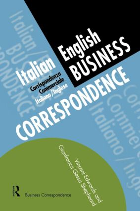 Italian/English Business Correspondence: 1st Edition (Paperback) book cover