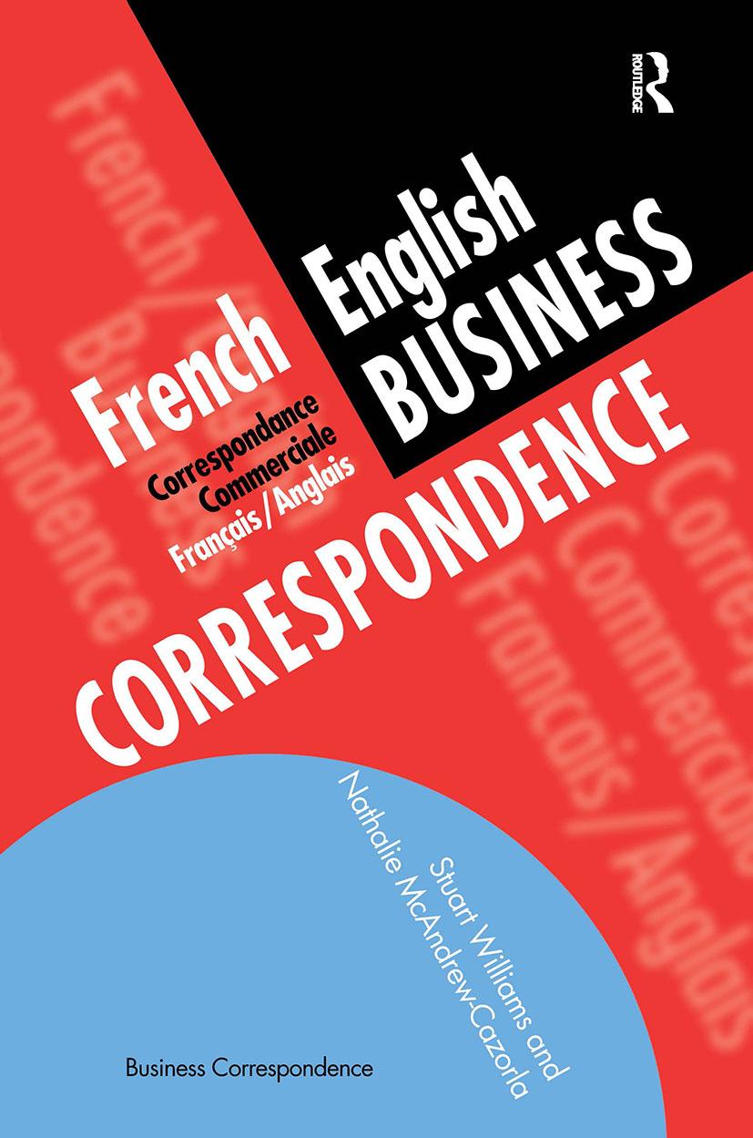 French/English Business Correspondence: Correspondance Commerciale Francais/Anglais (e-Book) book cover