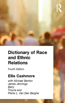 Dictionary of Race and Ethnic Relations (Paperback) book cover