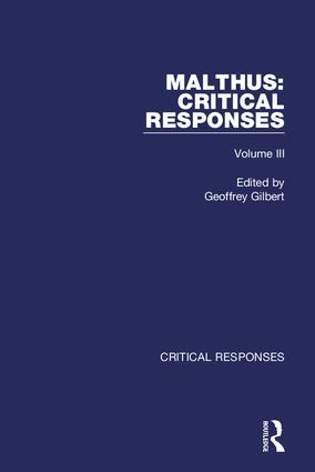 Thomas Robert Malthus: Critical Responses book cover