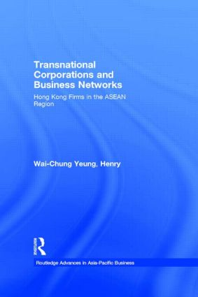 Transnational Corporations and Business Networks: Hong Kong Firms in the ASEAN Region book cover