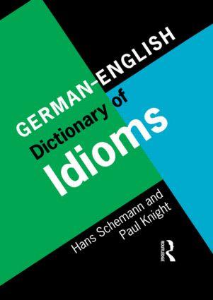 German/English Dictionary of Idioms (Hardback) book cover