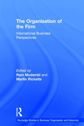 The Organisation of the Firm: International Business Perspectives book cover