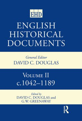 English Historical Documents: 1042–1189: 1st Edition (Hardback) book cover