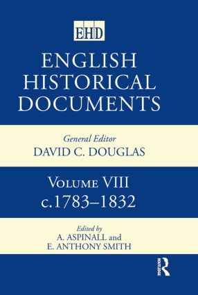 English Historical Documents: Volume 8 1783-1832, 2nd Edition (Hardback) book cover