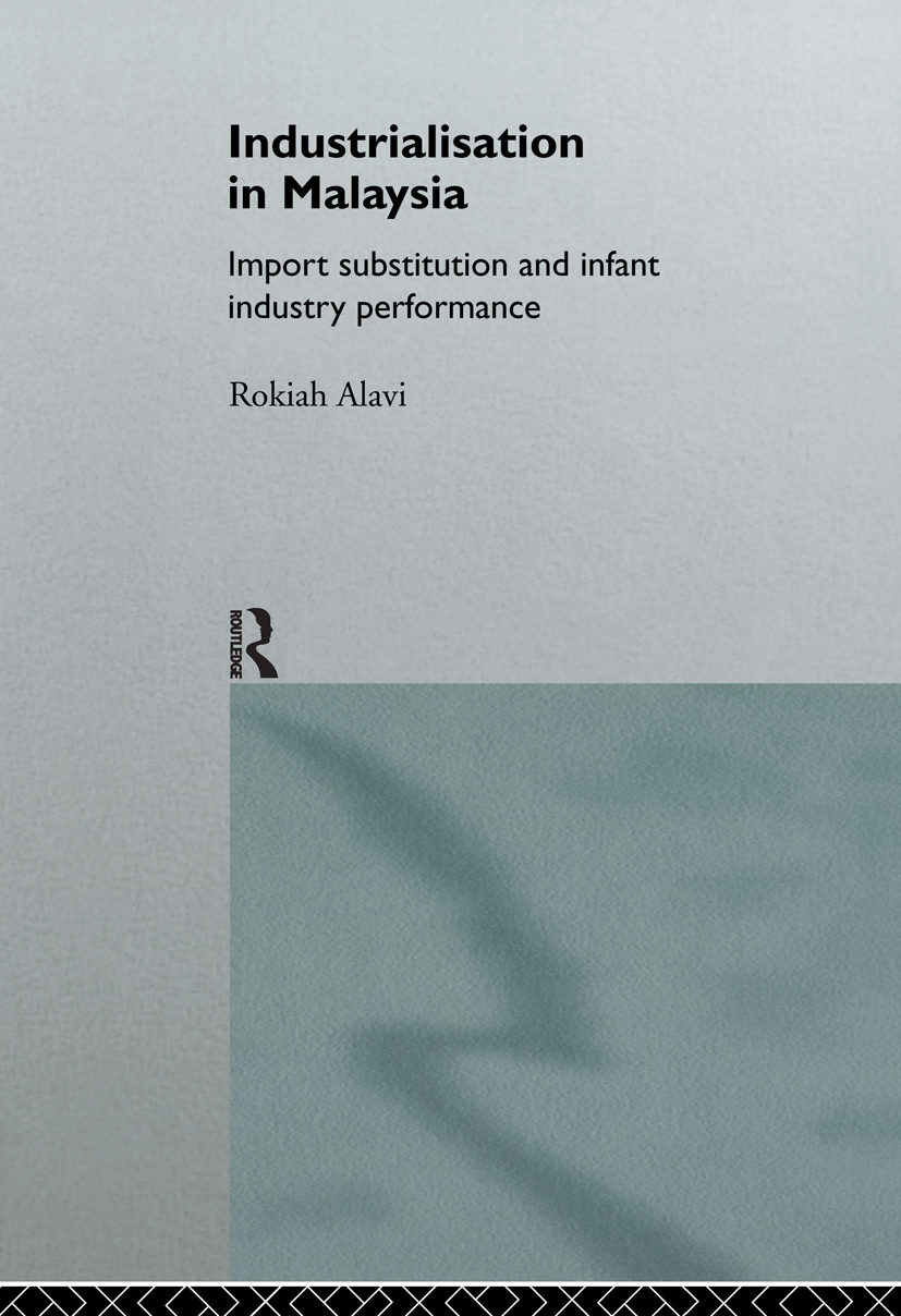 Industrialization in Malaysia: Import Substitution and Infant Industry Performance (Hardback) book cover