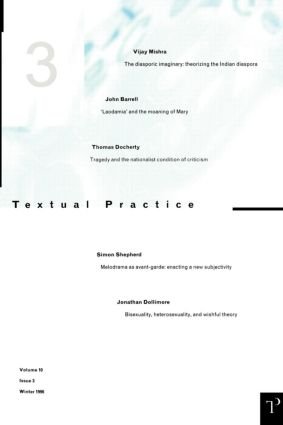 Textual Practice 10.3 (Paperback) book cover