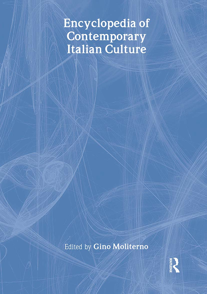 Encyclopedia of Contemporary Italian Culture: 1st Edition (Hardback) book cover