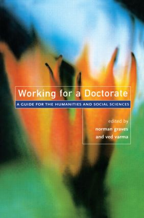 Working for a Doctorate: A Guide for the Humanities and Social Sciences (Paperback) book cover