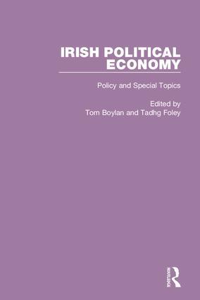 Irish Political Economy: 1st Edition (Hardback) book cover