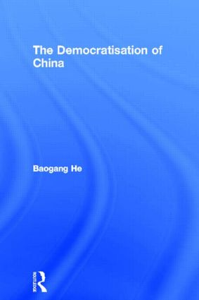 The Democratisation of China (Hardback) book cover