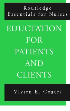 Education For Patients and Clients (Paperback) book cover