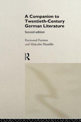 A Companion to Twentieth-Century German Literature: 2nd Edition (Paperback) book cover