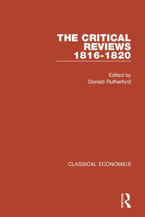 Classical Economics II: The Critical Reviews: 1816-1820 (Hardback) book cover