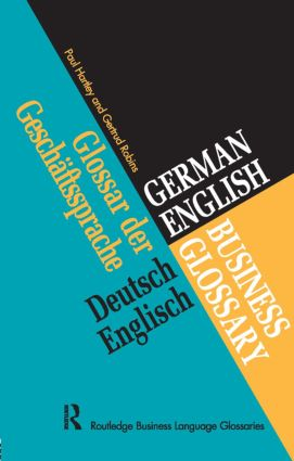 German/English Business Glossary (Paperback) book cover