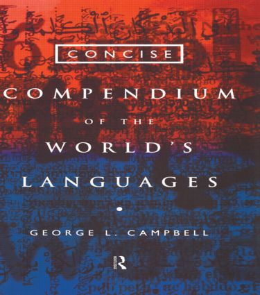 Concise Compendium of the World's Languages: 1st Edition (Paperback) book cover