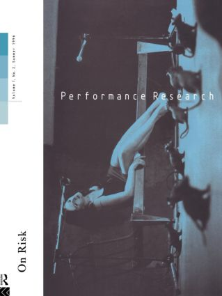 Performance Research V1 Issu 2: 1st Edition (Paperback) book cover