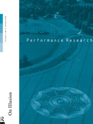 Performance Research 1.3: 1st Edition (Paperback) book cover