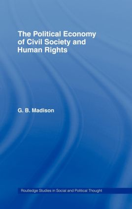 The Political Economy of Civil Society and Human Rights (Hardback) book cover