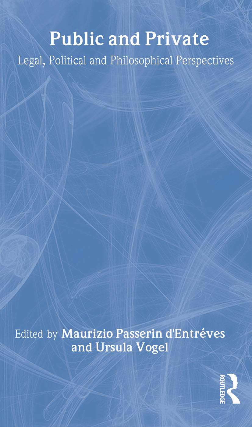 Public and Private: Legal, Political and Philosophical Perspectives book cover
