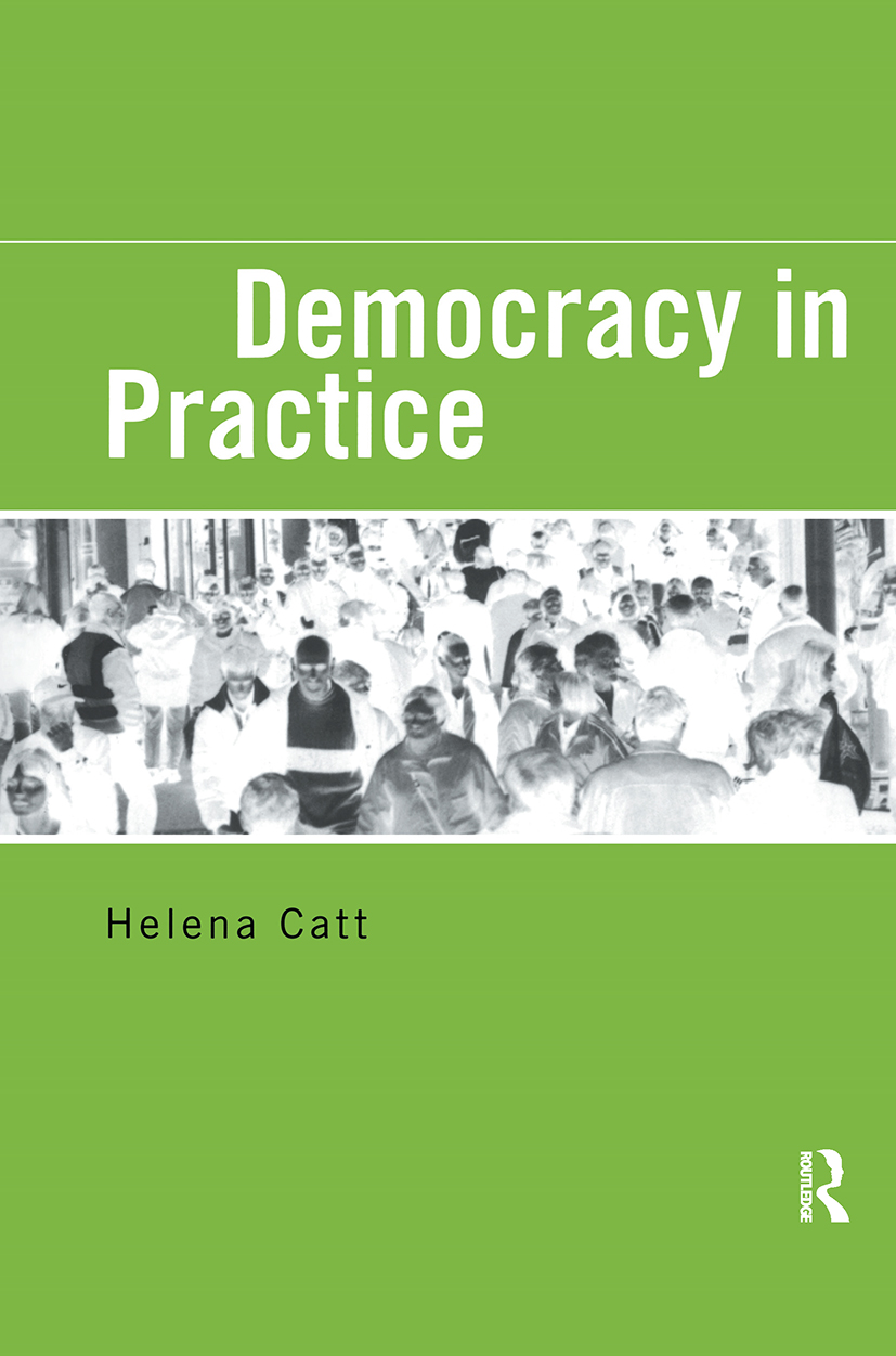 Democracy in Practice: 1st Edition (Paperback) book cover