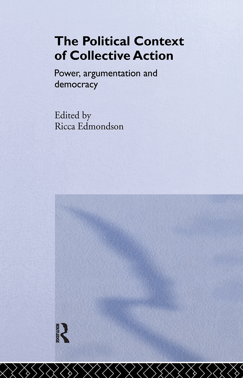 The Political Context of Collective Action: 1st Edition (Hardback) book cover