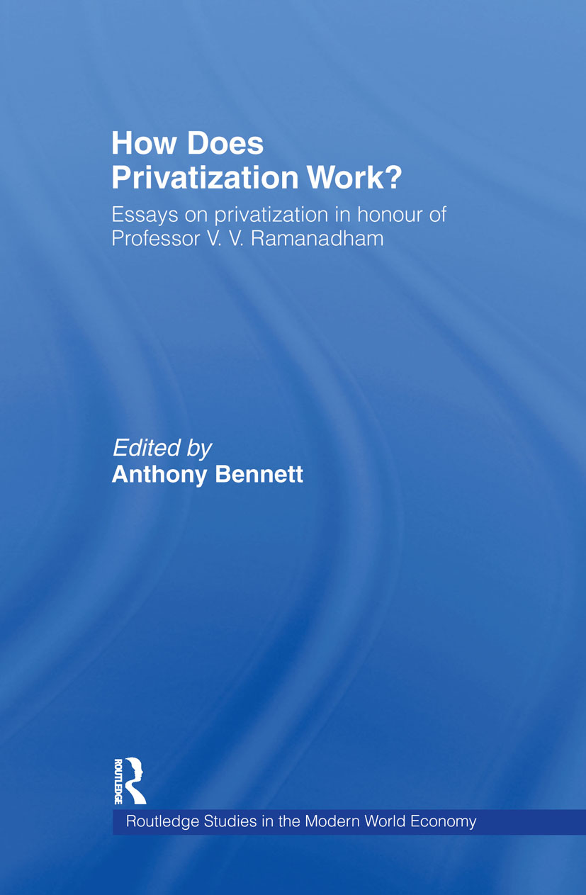 How Does Privatization Work?: 1st Edition (e-Book) book cover