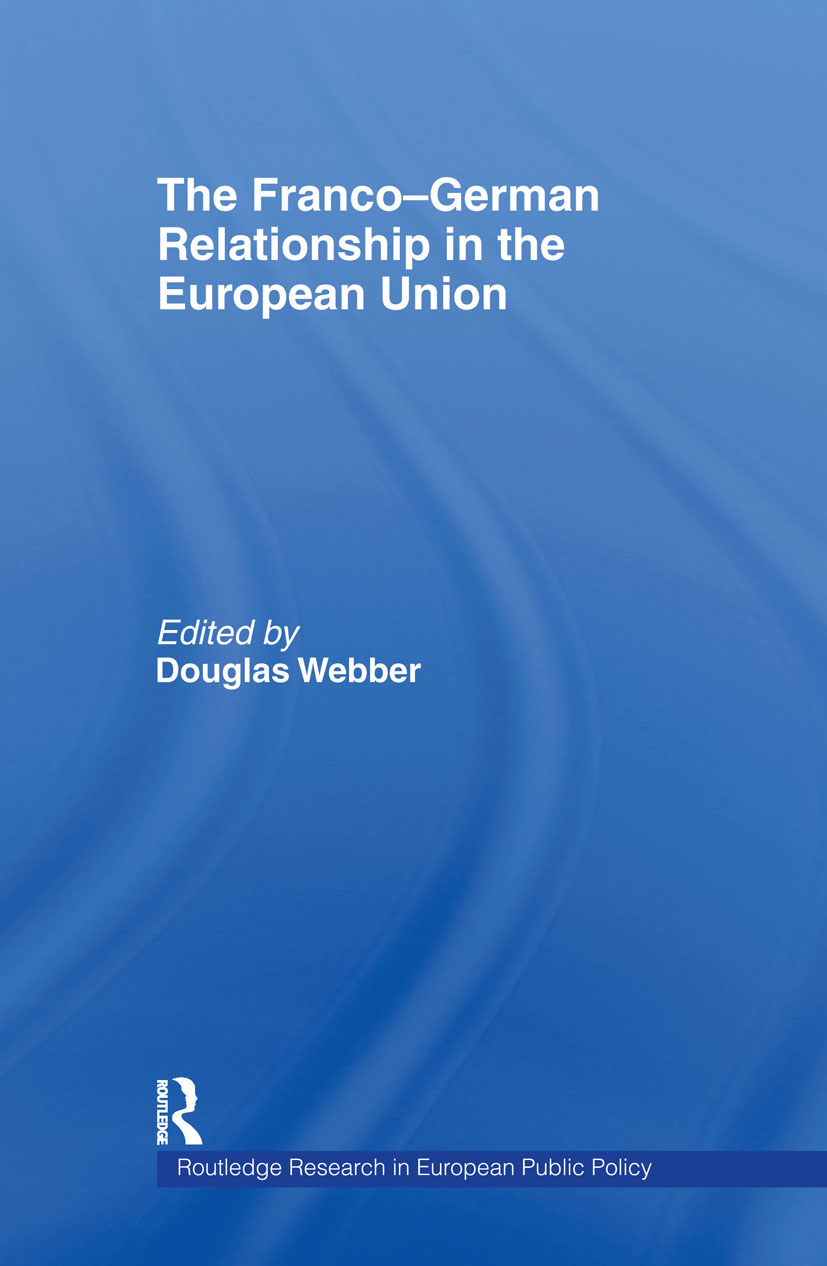 The Franco-German Relationship in the EU (Hardback) book cover