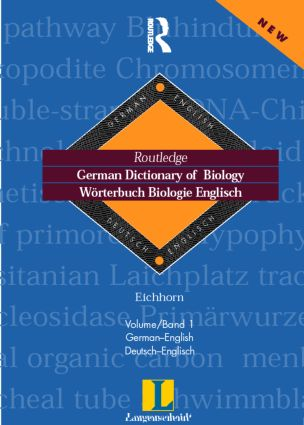 German Dictionary of Biology Vol 1: Worterbuch Biologie (German-English), 1st Edition (Hardback) book cover