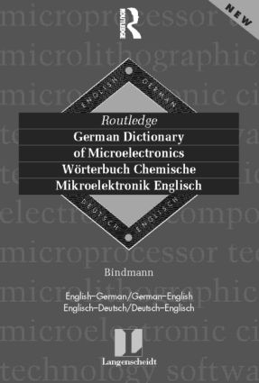 German Dictionary of Microelectronics/Worterbuch Mikroelektonik Englisch