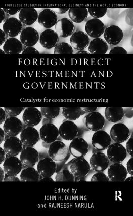 Foreign Direct Investment and Governments: Catalysts for economic restructuring (Paperback) book cover