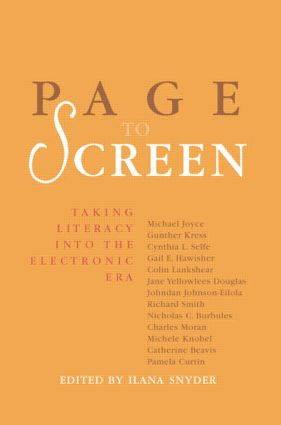 Page to Screen: Taking Literacy into the Electronic Era (Paperback) book cover