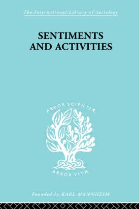 Sentiments and Activities: 1st Edition (Hardback) book cover