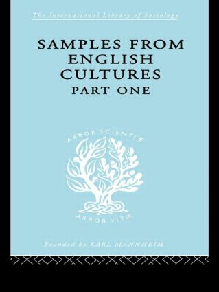 Samples from English Cultures: Part 1, 1st Edition (Hardback) book cover