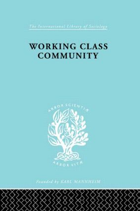 Working Class Comm Ils 122: 1st Edition (Hardback) book cover