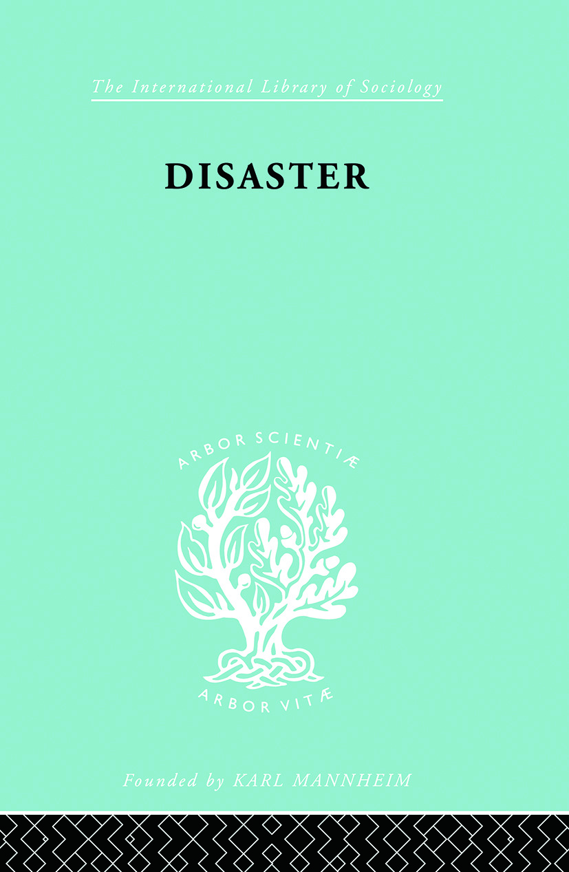 Disaster: A Psychological Essay book cover